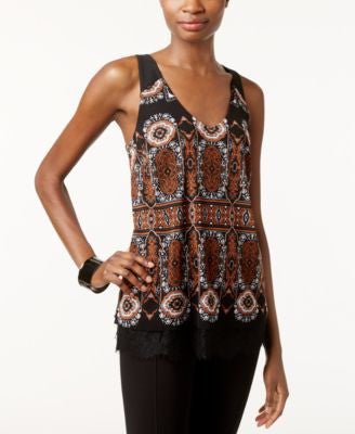 INC International Concepts Printed Layered-Look Tank Top, Only at Vogily