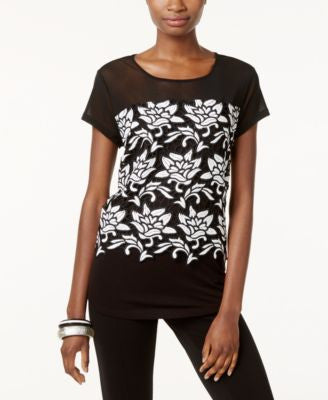 INC International Concepts Embroidered Top, Only at Vogily