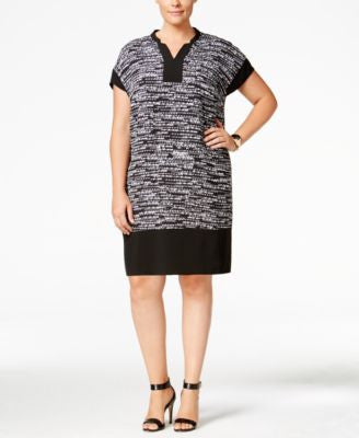 Calvin Klein Plus Size Printed Shift Dress