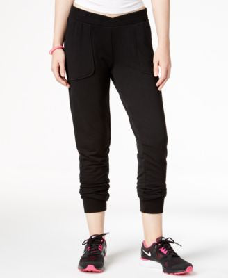 Material Girl Active Wrap-Waist Jogger Pants, Only at Vogily