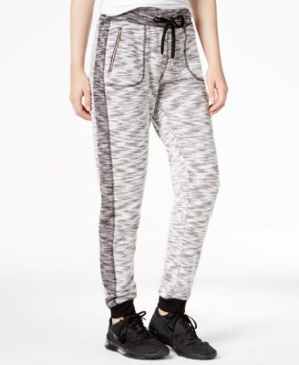 Material Girl Active Marled Contrast Jogger Pants, Only at Vogily