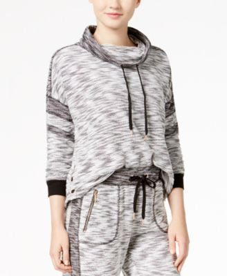 Material Girl Juniors' Marled French Terry Hoodie, Only at Vogily