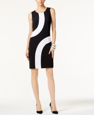 INC International Concepts Colorblocked Sheath Dress, Only at Vogily