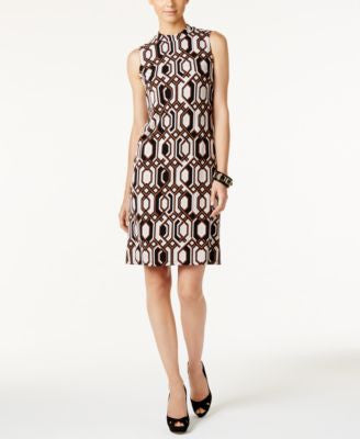 INC International Concepts Geo-Print Shift Dress, Only at Vogily