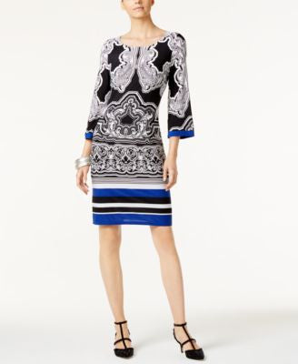 INC International Concepts Printed Sheath Dress, Only at Vogily