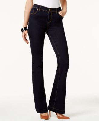 INC International Concepts Contrast-Stitch Flare-Leg Jeans, Only at Vogily