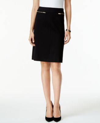 Alfani PRIMA Zip-Pocket A-Line Skirt, Only at Vogily