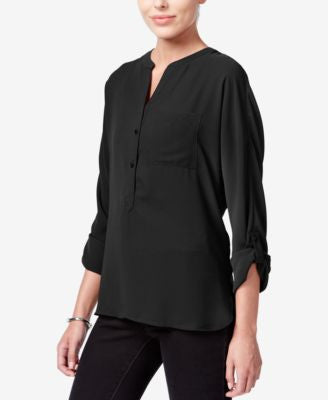 Bar III V-Neck High-Low Blouse, Only at Vogily