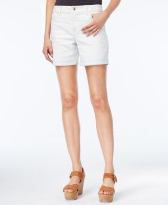 Tommy Hilfiger Bleached Out Wash Boyfriend Shorts