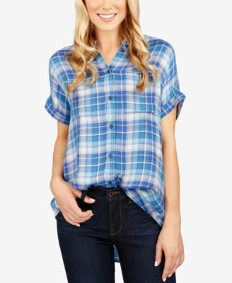 Lucky Brand Short-Sleeve Plaid Shirt