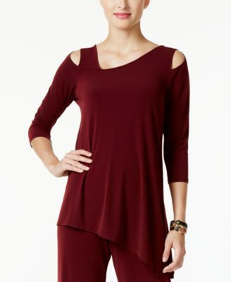 Alfani Cold-Shoulder Asymmetrical Top, Only at Vogily