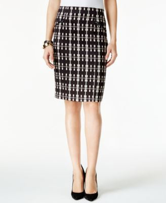 Alfani Plaid Pencil Skirt, Only at Vogily