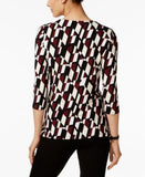 Alfani Petite Printed Asymmetrical Top, Only at Vogily