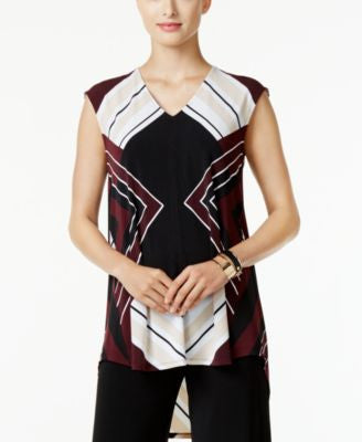 Alfani Petite Printed High-Low Top, Only at Vogily