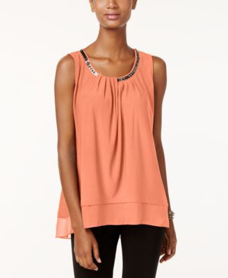 Alfani Petite Embellished Layered-Look Top, Only at Vogily