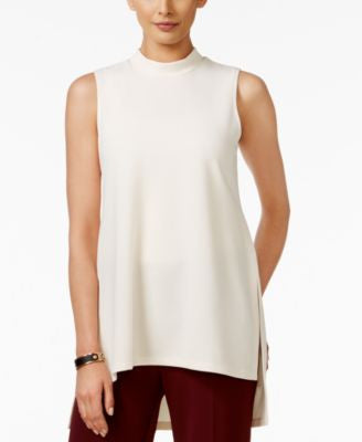 Alfani Petite Mock-Neck High-Low Top, Only at Vogily