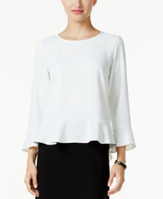 Alfani PRIMA Flutter-Hem Blouse, Only at Vogily