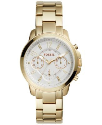 Fossil Women's Chronograph Gwynn Gold-Tone Stainless Steel Bracelet Watch 38mm ES4037