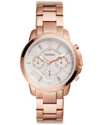 Fossil Women's Chronograph Gwynn Rose Gold-Tone Stainless Steel Bracelet Watch 38mm ES4035