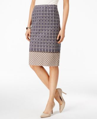 Charter Club Multi-Print Pencil Skirt, Only at Vogily