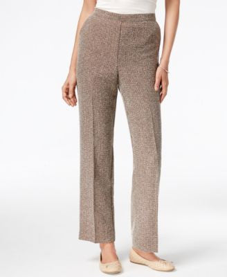 Alfred Dunner Petite Santa Fe Check-Print Pull-On Pants