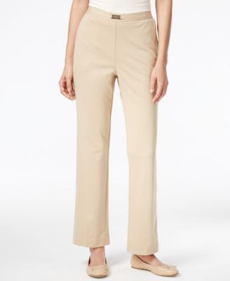 Alfred Dunner Madison Park Collection Belted Pull-On Straight-Leg Pants