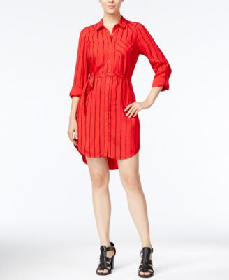 kensie Striped Shirtdress