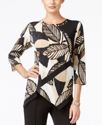 Alfred Dunner Petite Madison Park Printed Top