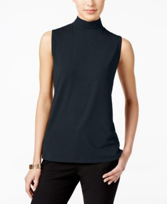 Charter Club Petite Mock-Neck Shell, Only at Vogily