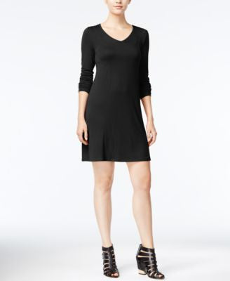 kensie Long-Sleeve T-Shirt Dress