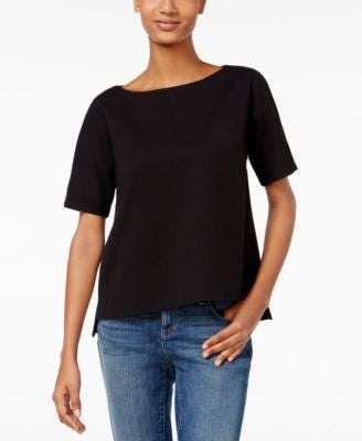 Eileen Fisher Boat-Neck Dolman-Sleeve Top