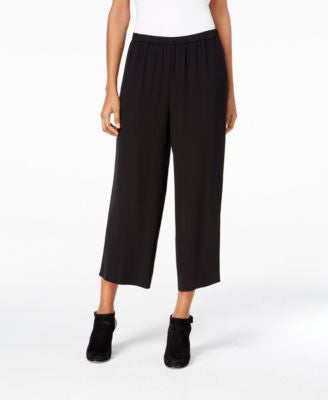 Eileen Fisher Silk Crepe Cropped Pants