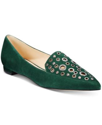 Nine West Akeelah Pointed-Toe Grommet Flats