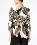 Alfred Dunner Madison Park Collection Printed Embellished Top