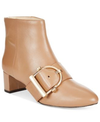 Nine West Konah Buckle Block-Heel Booties