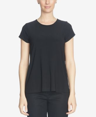 CeCe Short-Sleeve Pleated-Back Blouse