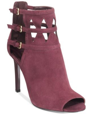 Nine West Laulani Cutout Peep-Toe Booties