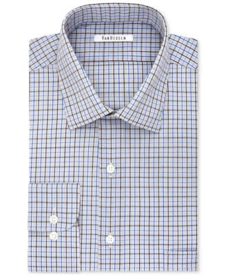 Van Heusen Men's Tall Classic-Fit Non-Iron Tattersall Dress Shirt