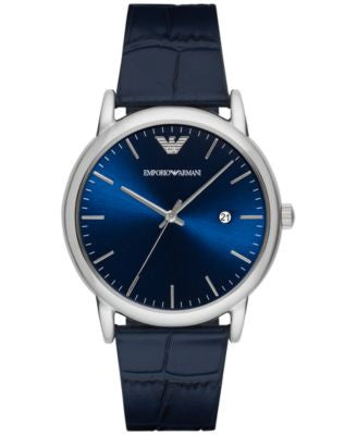 Emporio Armani Men's Luigi Blue Leather Strap Watch 43mm AR2501