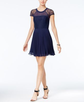 BCBGeneration Illusion Lace A-Line Dress