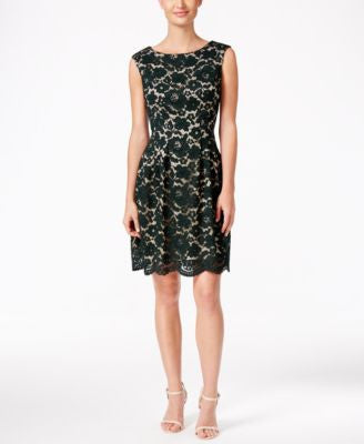 Vince Camuto Lace A-Line Dress