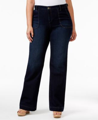 Style & Co. Plus Size Flared-Leg Jewel Wash Jeans, Only at Vogily