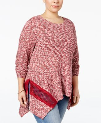 Style & Co. Plus Size Space-Dyed Handkerchief Hem Top, Only at Vogily
