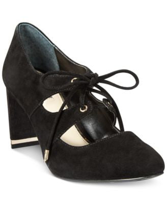 Alfani Women's Binddi Lace-Up Pumps, Only at Vogily