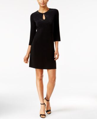 Calvin Klein Embellished Keyhole Dress