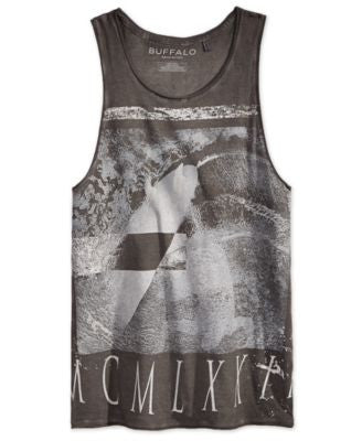 Buffalo David Bitton Men's Live Free Graphic-Print Tank Top