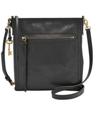 Fossil Emma North South Leather Crossbody