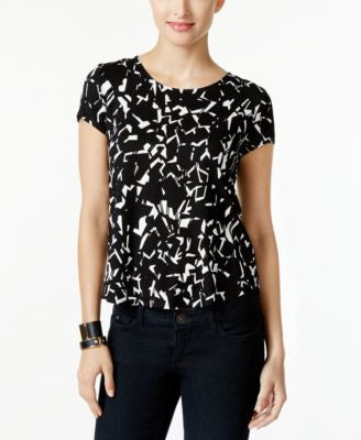 Alfani Petite Printed T-Shirt, Only at Vogily