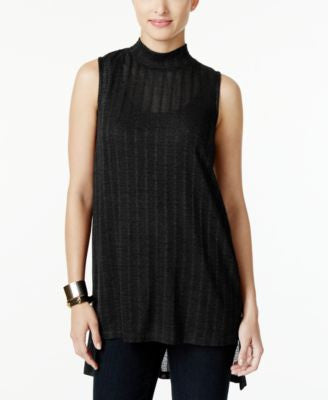 Alfani Petite High-Low Mock-Neck Top, Only at Vogily