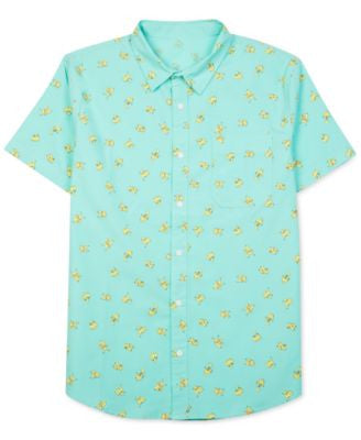 Jem Men's Pokémon Pikachu Graphic-Print Short-Sleeve Shirt